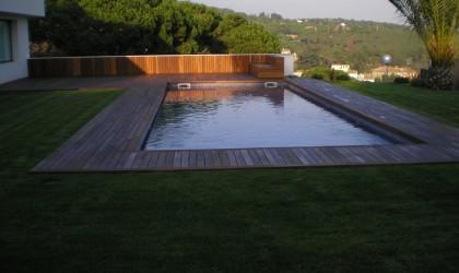 Tarima Exterior para piscina en Cabrera de Mar