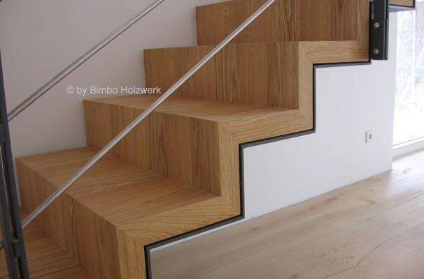 Escalera interior park house studio parquet barcelona for Escaleras de parquet