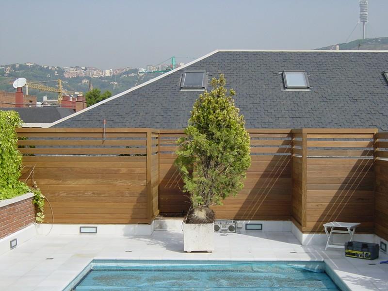 Terraza valla y celosias vivienda particular park house - Vallas para terrazas ...