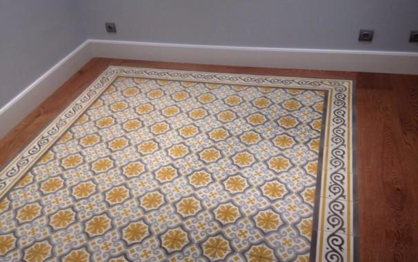 Mosaicos para suelos amazing restauracin y de hidrulicos for Suelo vinilico mosaico