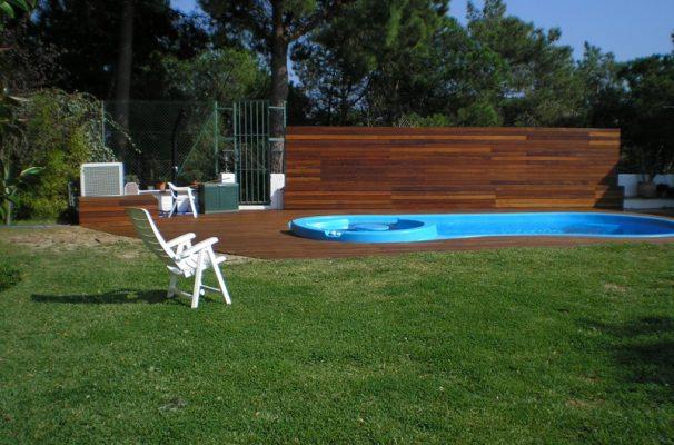 Suelo madera jardin suelos efectos ladrillos madera rojo - Suelo de madera para jardin ...