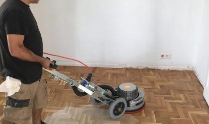 Restauración de parquet al aceite en casa particular