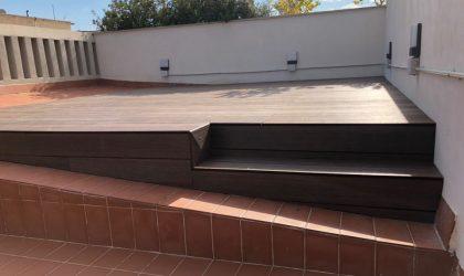 Exterior con rastrel de aluminio perdura con el tiempo y pies regulables