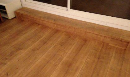 Instalación de tarima de madera maciza para piso particular